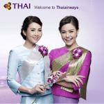 Thai airways to damer med blomst